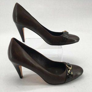 Cole Haan Womens Pump Shoes Brown Horsebit Slim He